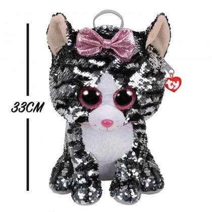 Ty Fashion - Kiki the Grey Cat Sequins Backpack