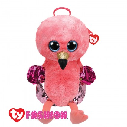 Ty Fashion - Gilda the Pink Flamingo Sequins Backpack