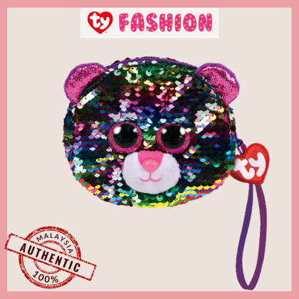 Ty Fashion (Malaysia Official)  Sequins Wristlet  Dotty the Multicolor Leopard