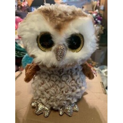 Ty Toys Beanie Boos (Choose From Multiple Sizes) Percy The Barn Owl Soft Toys