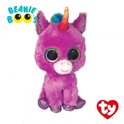 Ty Toys Beanie Boos (Choose From Multiple Sizes) Rosette The Purple Unicorn Soft Toys