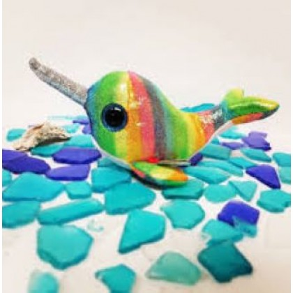Ty Toys Beanie Boos (Choose From Multiple Sizes) Nori The Narwhal Soft Toys