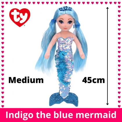 Ty Sea Sequin Medium Size 45cm | INDIGO The Sequin Blue Mermaid