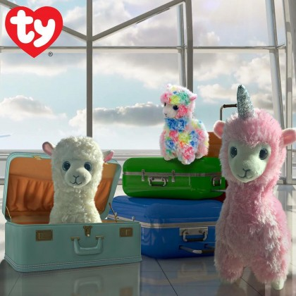 Ty Toys Beanie Boos (Choose From Multiple Sizes) Lana The Pink Llama Soft Toys