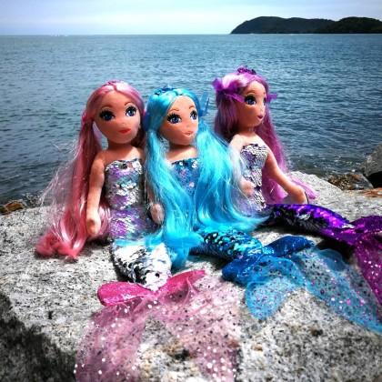 Ty Sea Sequin Medium Size 45cm   LORELEI The Sequin Purple Mermaid