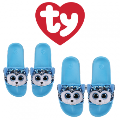 Ty Footwear (Malaysia Official)   Sequin Slides (Small, Medium & Large)   Slush the Husky