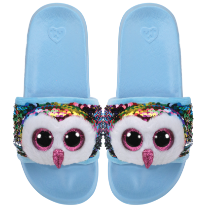 Ty Footwear (Malaysia Official) | Sequin Slides (Small, Medium & Large) | Owen the Multicolor Owl