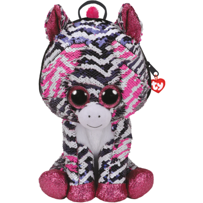 [BUY 1 FREE 1] Ty Fashion Sequins Backpack Large   Zoey The Zebra   Accessories Bags Gift Idea for Girls Kids   FREE Mijoy 30pcs Set Worth RM39.90