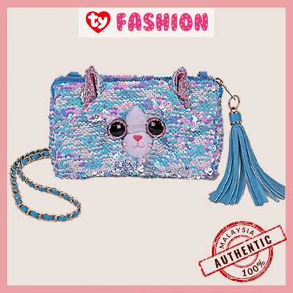 Ty Fashion   Sequins Square Purse   Whimsy the Iridescent Cat