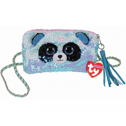 Ty Fashion (Malaysia Official)  Sequins Square Purse  Bamboo the Panda