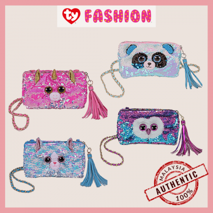 Ty Fashion | Sequins Square Purse | Bamboo the Panda