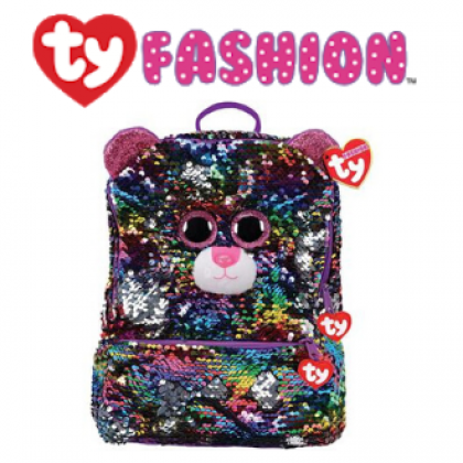 Ty Fashion - Dotty the Multicolor Leopard Sequins Backpack (Large)