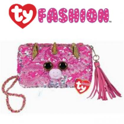 Ty Fashion (Malaysia Official)  Sequins Square Purse  Fantasia the Pink Unicorn