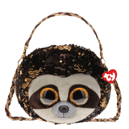 (100% Original) Ty Fashion   Sequins 3-Braided Sling Purse   Dangler The Sloth   Accessories Bags Gift Idea for Girls Kids