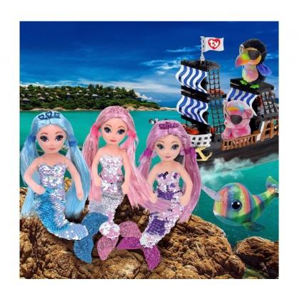 Ty Sea Sequin Regular Size 25cm | LORELEI The Sequin Purple Mermaid